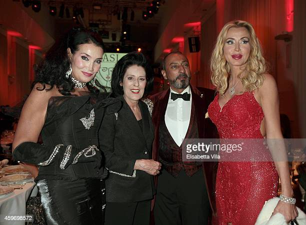 Lamia Khashoggi Debra Mace Mohamed Aledrisi and Valeria Marini attend the Children for Peace Benifit Gala at Spazio Novecento on November 28 2014 in...
