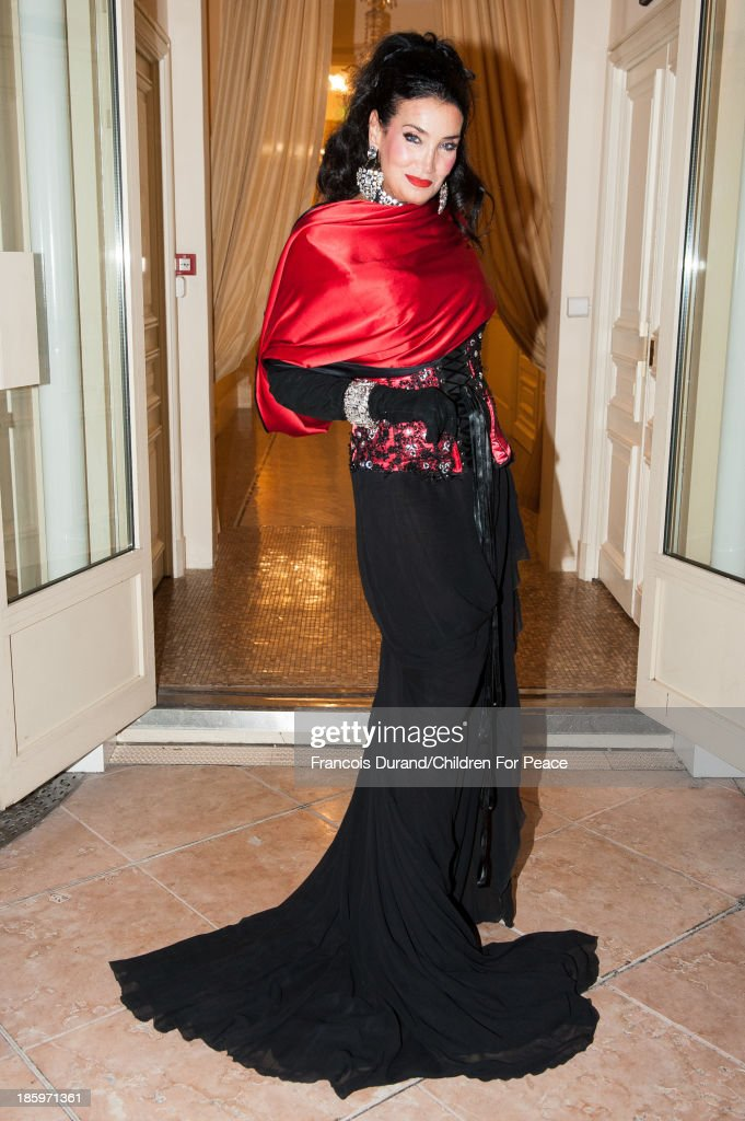 Lamia Khashoggi, vice president 'Children for Peace' (ONLUS) attends the 'Opera Romeo and Juliette' : Gala to the benefit of the The Children for Peace association, on October 26, 2013 in Monte-Carlo, Monaco.