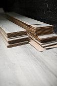 Laminate floor pieces