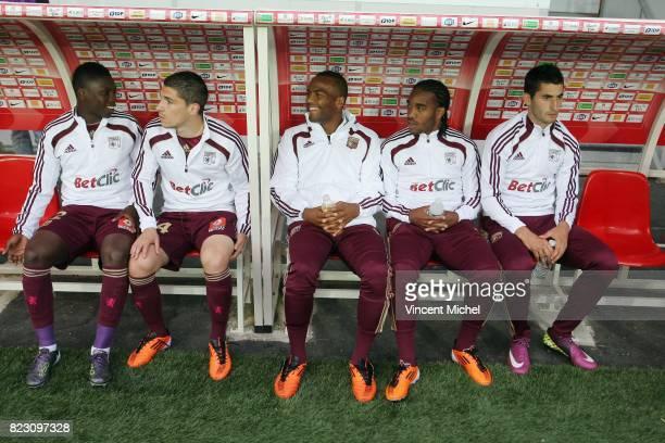 Lamine GASSAMA / Jeremy PIED / Jimmy BRIAND / Alexandre LACAZETTE / Maxime GONALONS Brest / Lyon 36eme journee de Ligue 1