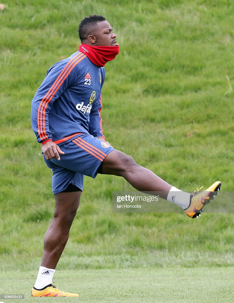 Lamine Kone during a Sunderland AFC training session at The Academy of Light on April 29, 2016 in Sunderland, England.