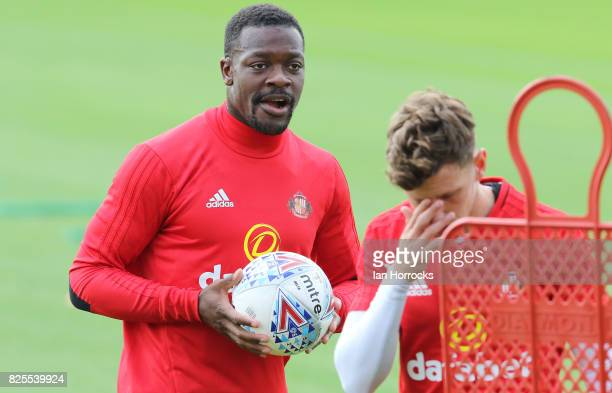Lamine Kone during a Sunderland AFC training session at The Academy of Light on August 2 2017 in Sunderland England