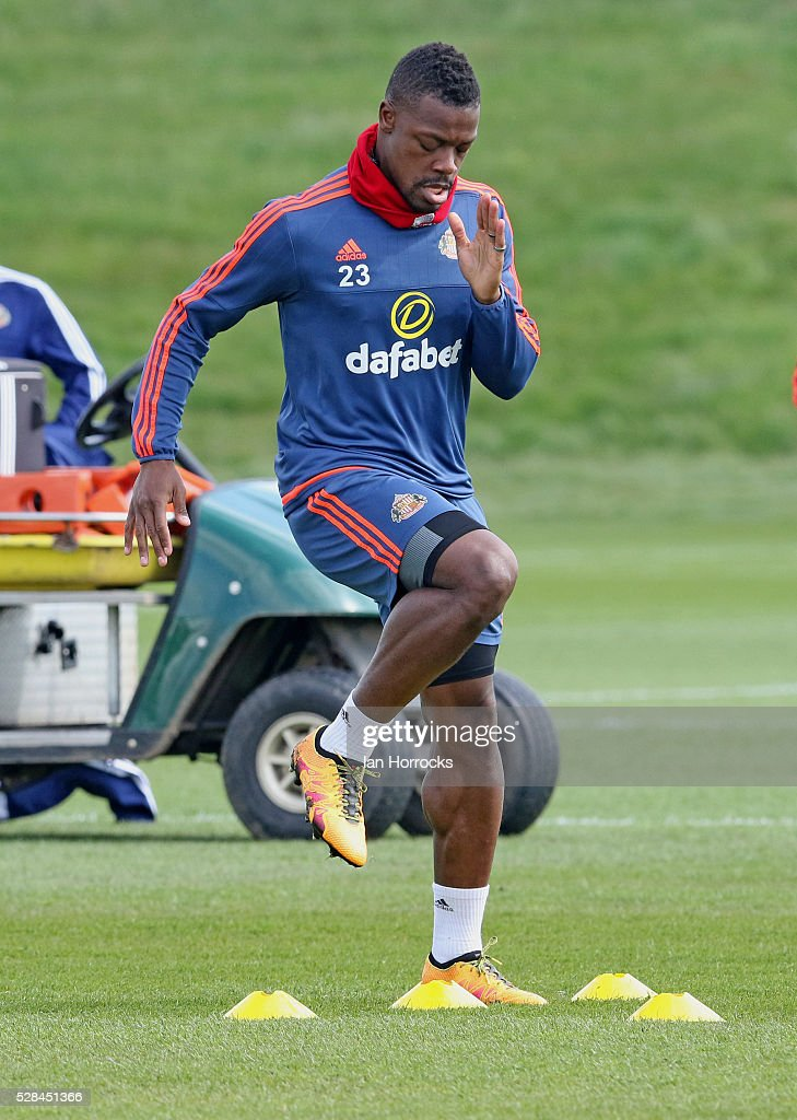 Lamine Kone during a Sunderland training session at The Academy of Light on May 5, 2016 in Sunderland, England.