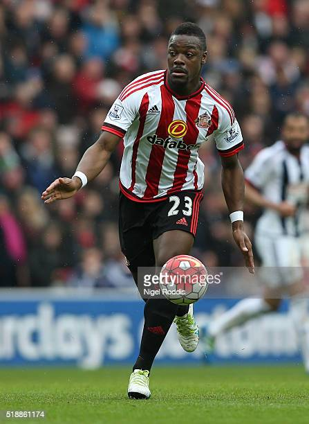 Lamine Kone of Sunderland during the Barclays Premier League match between Sunderland and West Bromwich Albion at Stadium of Light on April 2 2016 in...