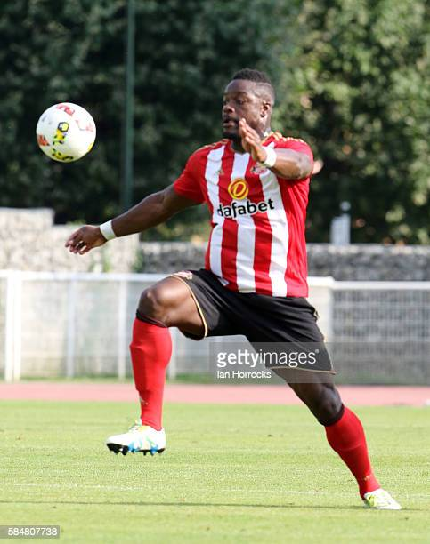 Lamine Kone of Sunderland during the preseason friendly match between Sunderland AFC and Montpellier HSC at Stade Jacques Forestier on July 30 2016...