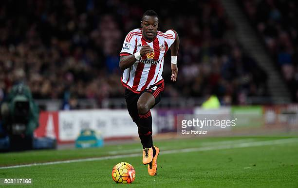 Lamine Kone of Sunderland in action during the Barclays Premier League match between Sunderland and Manchester City at the Stadium of Light on...