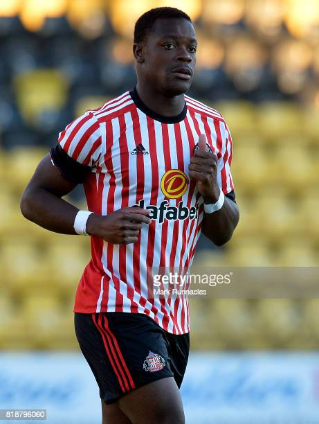 Lamine Kone of Sunderland in action during the pre season friendly between Livingston and Sunderland at Almondvale Stadium on July 12 2017 in...