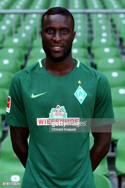 Lamine Sane of Werder Bremen poses during the team presentation at Weser Stadium on July 19 2017 in Bremen Germany
