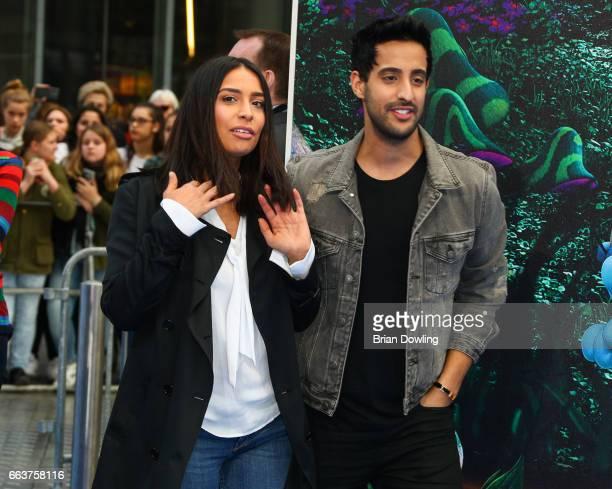 Lamiya Slimani and Sami Slimani arrive at the 'Die Schluempfe Das verlorene Dorf' Berlin premiere at Sony Centre on April 2 2017 in Berlin Germany