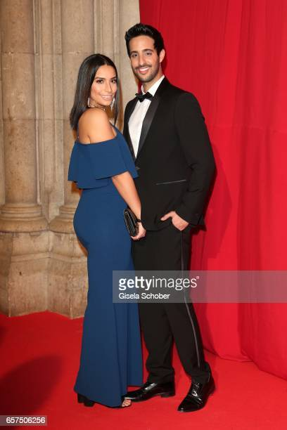 Lamiya Slimani and Sami Slimani during the 8th Filmball Vienna at City Hall on March 24 2017 in Vienna Austria