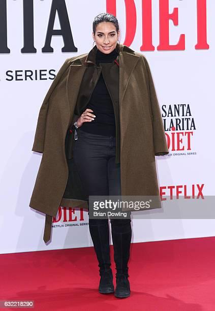Lamiya Slimani arrives at the premiere of Netflix's Santa Clarita Diet at CineStar on January 20 2017 in Berlin Germany
