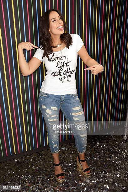 Lamiya Slimani attends the 'GLOW The Beauty Convention' on May 14 2016 in Stuttgart Germany