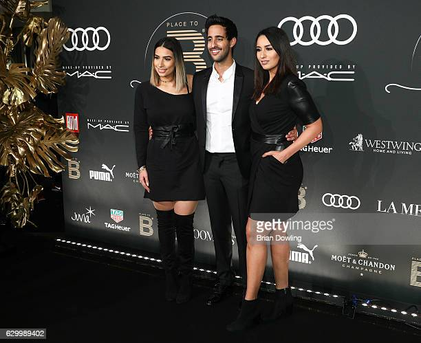 Lamiya Slimani Sami Slimani and Dounia Slimani arrive at the Place To B Influencer Award at Axel Springer Haus on December 15 2016 in Berlin Germany