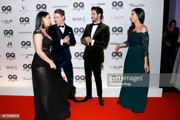 Lamiya Slimani Simon Lohmeyer Sami Slimani and arrive for the GQ Men of the year Award 2017 at Komische Oper on November 9 2017 in Berlin Germany