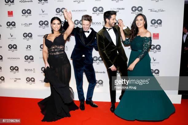 Lamiya Slimani Simon Lohmeyer Sami Slimani and Dounia Slimani arrive for the GQ Men of the year Award 2017 at Komische Oper on November 9 2017 in...