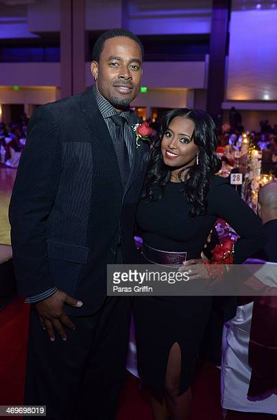 Lamman Rucker and Keshia Knight Pulliam attend the 26th Annual 'A Candle in the Dark' Gala and Inaugural Ball at The Hyatt Regency Atlanta on...