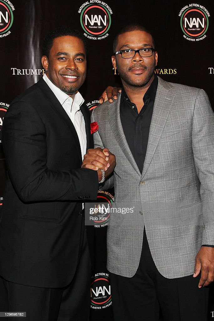 Lamman Rucker (L) and Tyler Perry attend the 2nd Annual Triumph Awards at the Rose Theater, Jazz at Lincoln Center on October 19, 2011 in New York City.