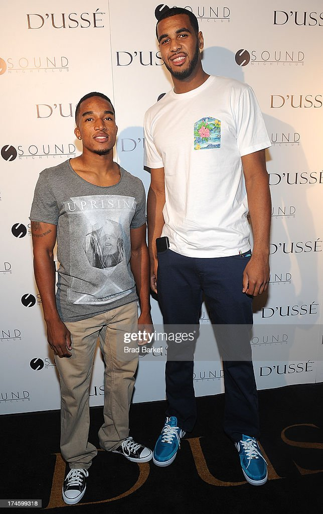Lamont Morgan(L) and Brandon Davies attends the Jay Z After Party at Sound Nightclub on July 27, 2013 in Los Angeles