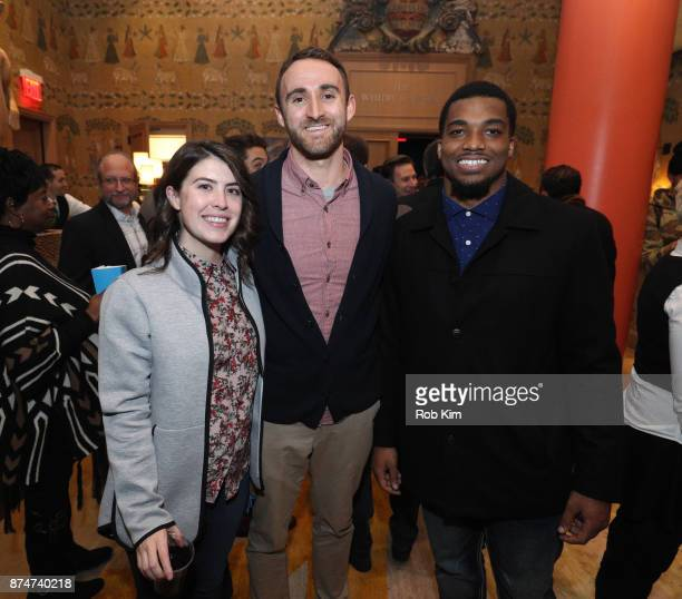 LaMontre Harvey and guests attend 'Magnify' Documentary Series Screening at The Whitby Screening Room on November 15 2017 in New York City