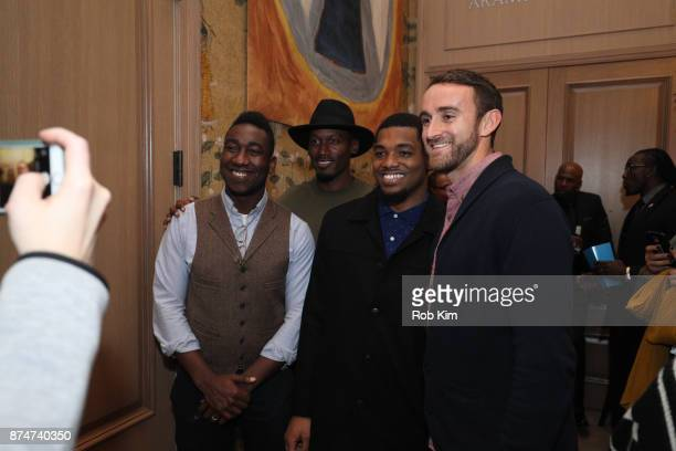 LaMontre Harvey poses with guests at 'Magnify' Documentary Series Screening at The Whitby Screening Room on November 15 2017 in New York City