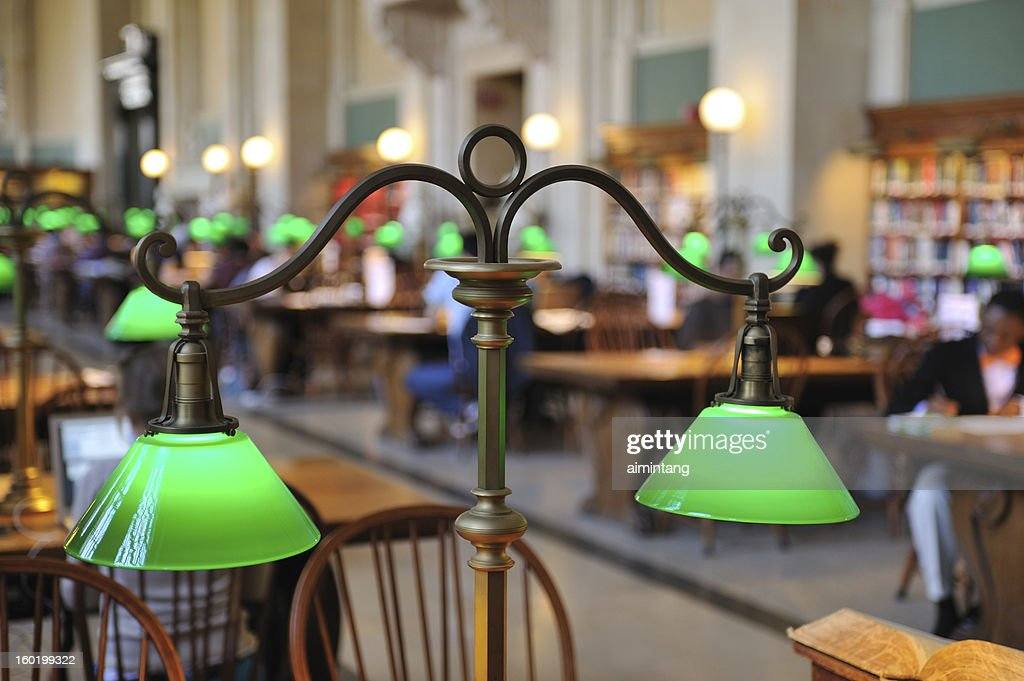 Lamp in Library