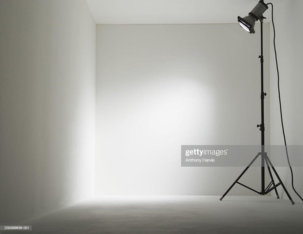 Lamp in white room : Stock Photo