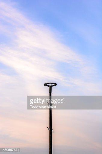 Lamp post on twilight sky : Stock Photo