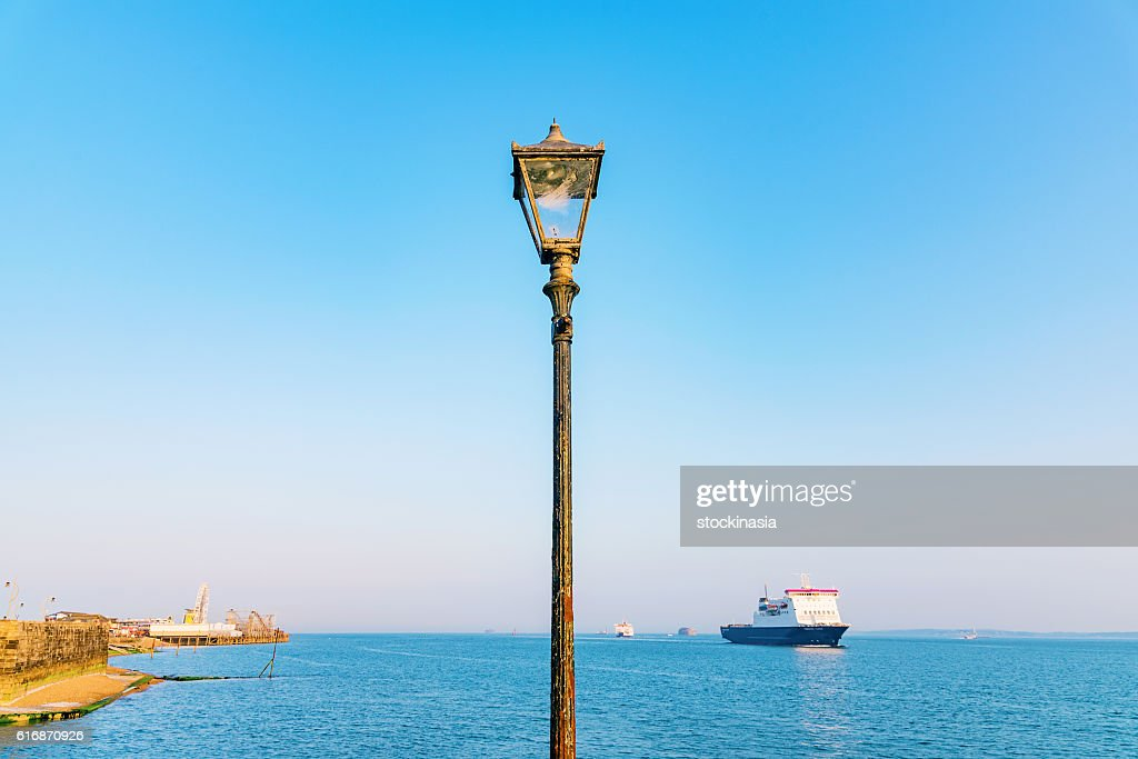 Lamp post with blue sky : Stock Photo