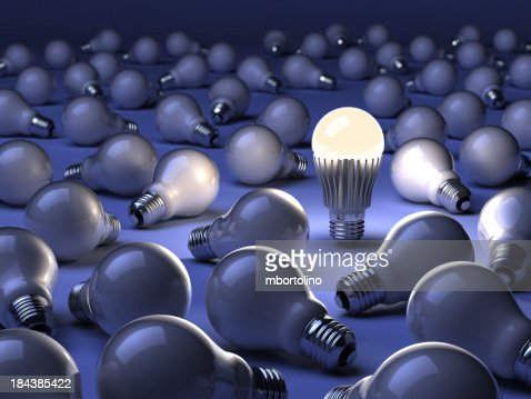 LED lamp with old lightbulbs