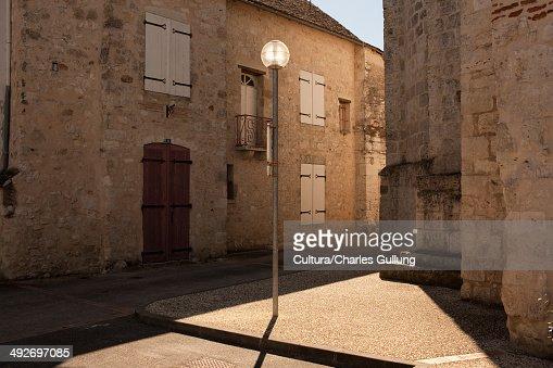 Lamppost in village, Bordeaux, France