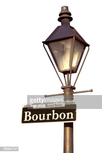 Lamppost With Bourbon Street Sign New Orleans Louisiana