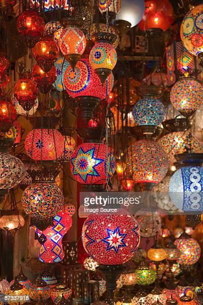 Lamps in istanbul grand bazaar