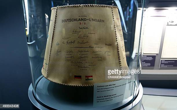 A lampshade of the 1954 era of Germanys World Cup victory at the German Football Museum at German Football Museum on October 19 2015 in Dortmund...