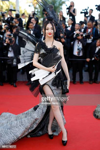 Lan Yan attends the 'Ismael's Ghosts ' screening and Opening Gala during the 70th annual Cannes Film Festival at Palais des Festivals on May 17 2017...
