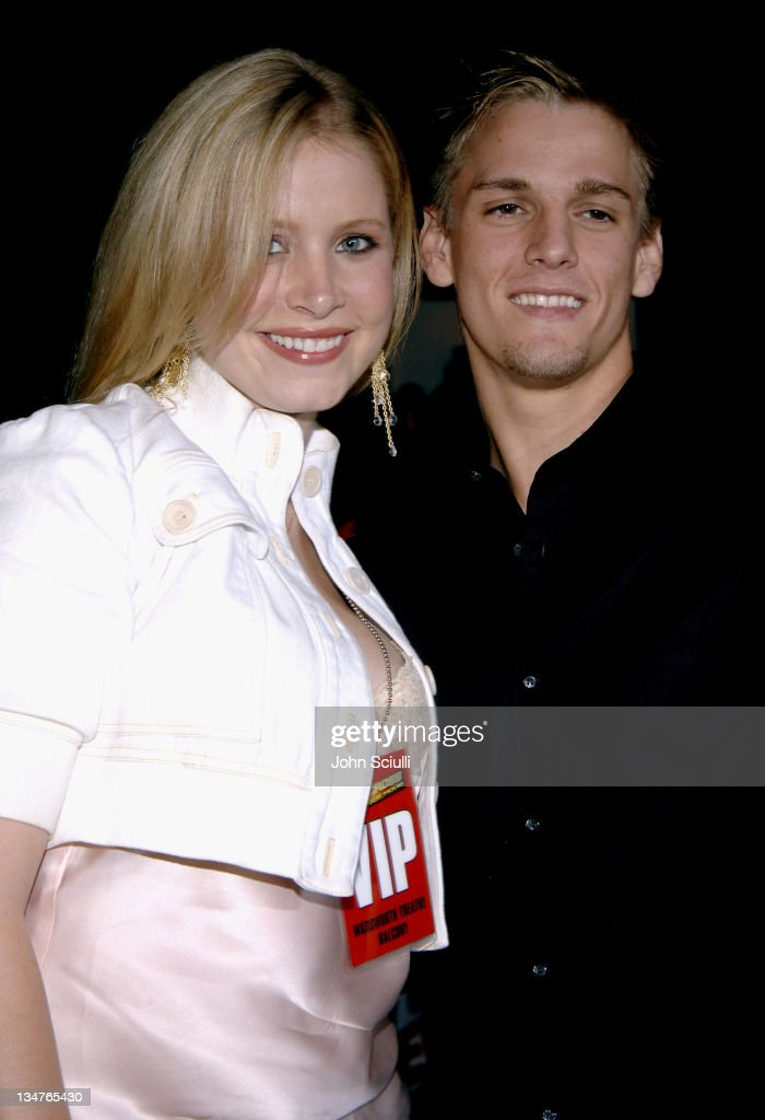 Lana Austin and Aaron Carter during 'Supercross' Los Angeles Premiere Red Carpet at Veterans Administration Complex in Westwood California United...