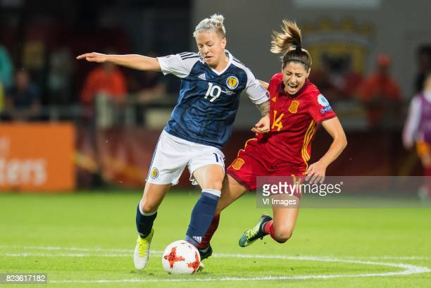Lana Clelland of Scotland women Vicky Losada of Spain women during the UEFA WEURO 2017 Group D group stage match between Scotland and Spain at The...