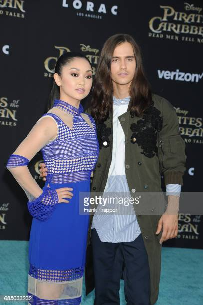 Lana Condor and Anthony De La Torre arrive at the premiere of Disney's 'Pirates of the Caribbean Dead Men Tell No Tales' at the Dolby Theatre on May...