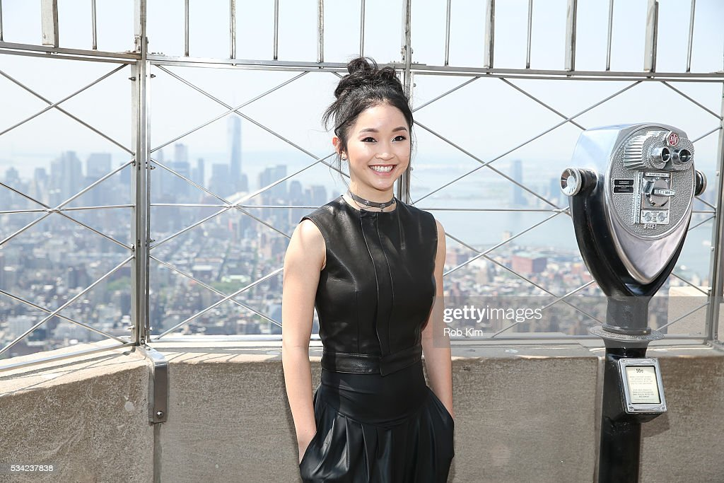 Lana Condor of 'X-Men: Apocalypse' visits the Empire State Building on May 25, 2016 in New York City.