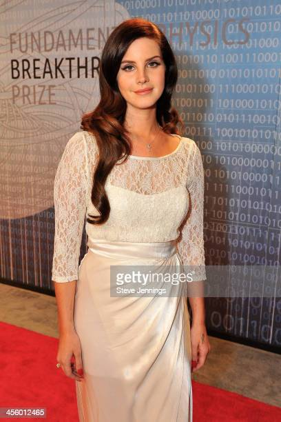 Lana Del Ray attends the 2014 Breakthrough Prize Inaugural Ceremony for Awards in Fundamental Physics and Life Sciences at NASA Ames Research Center...