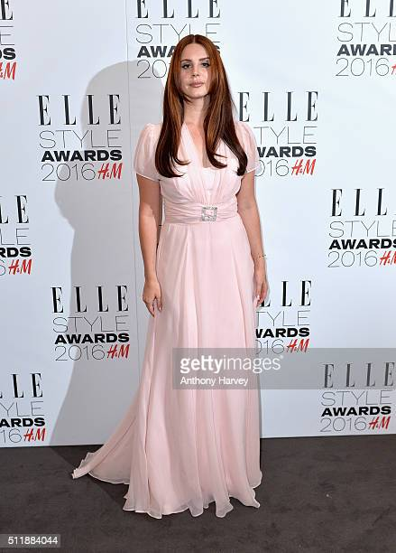 Lana Del Ray attends The Elle Style Awards 2016 on February 23 2016 in London England