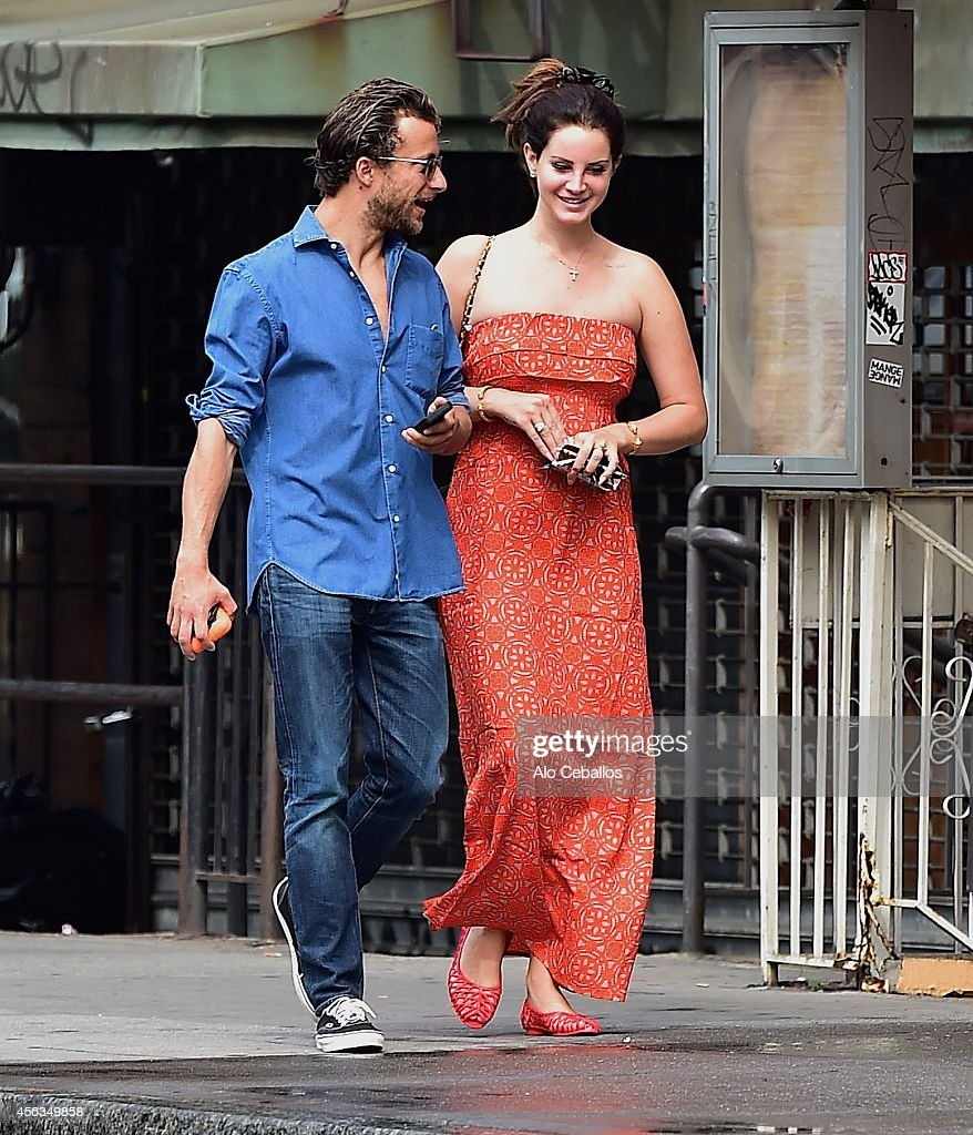 Lana Del Rey and Francesco Carrozzini are seen in Soho on September 29 2014 in New York City