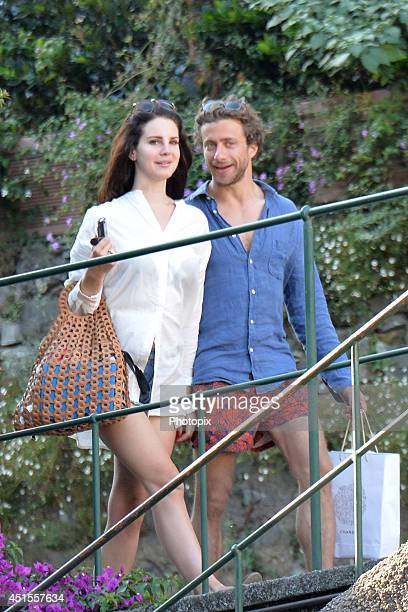 Lana Del Rey and Francesco Carrozzini are seen on July 1 2014 in Portofino Italy