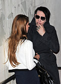 Lana Del Rey and Marilyn Manson attend the 'Musik Hilft' charity dinner at Grill Royal on March 21 2012 in Berlin Germany
