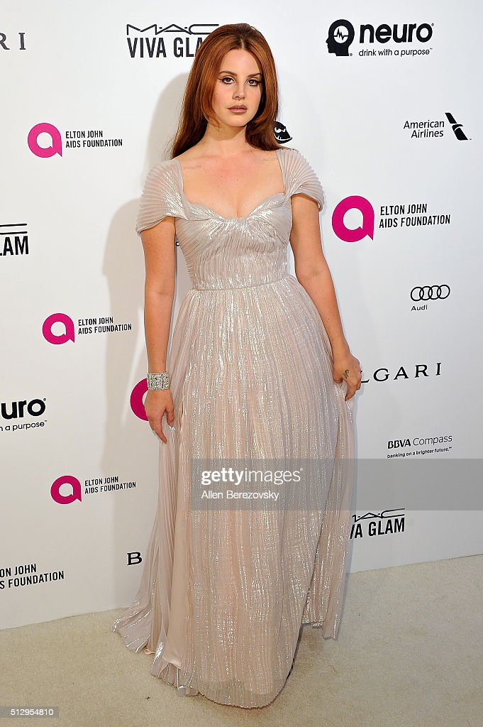 Lana Del Rey arrives at the 24th Annual Elton John AIDS Foundation's Oscar Viewing Party on February 28 2016 in West Hollywood California