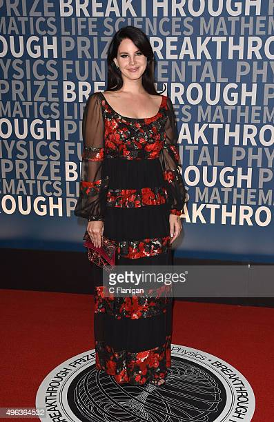 Lana Del Rey arrives at the 3rd Annual Breakthrough Prize Award Ceremony at NASA Ames Research Center on November 8 2015 in Mountain View California