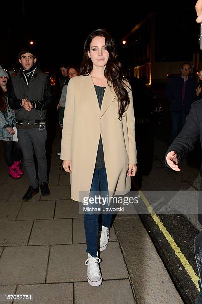 Lana Del Rey arriving at her London hotel on November 27 2012 in London England