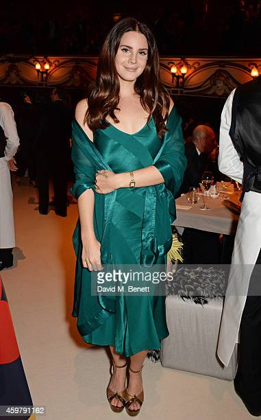Lana Del Rey attends a drinks reception at the British Fashion Awards at the London Coliseum on December 1 2014 in London England