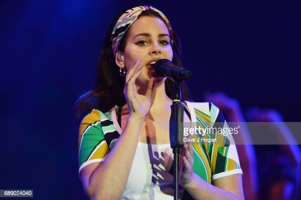 Lana Del Rey attends Day 1 of BBC Radio 1's Big Weekend 2017 at Burton Constable Hall on May 27 2017 in Hull United Kingdom