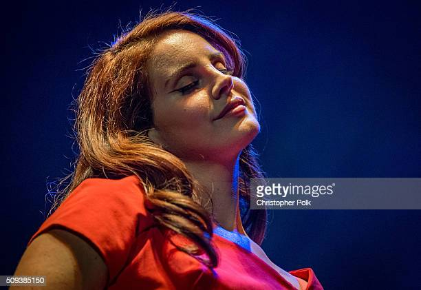 Lana Del Rey attends her 'Freak' music video premiere event presented by Vevo at The Wiltern on February 9 2016 in Los Angeles California
