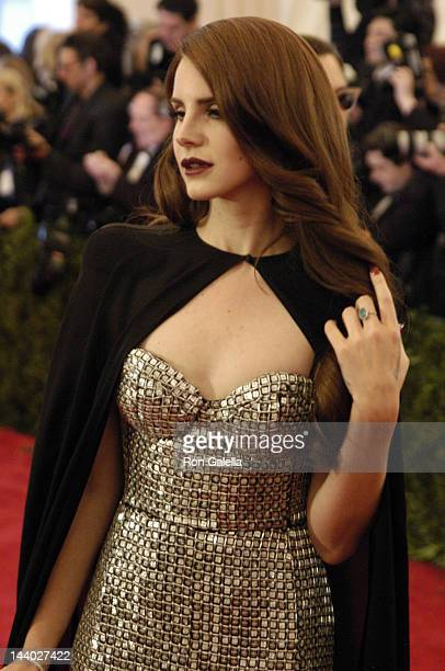 Lana Del Rey attends 'Schiaparelli And Prada Impossible Conversations' Costume Institute Gala on May 7 2012 at the Metropolitan Museum of Art in New...